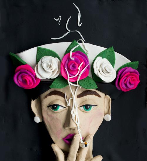 Original photograph: Hat and Five Roses, Paris Vogue, 1956 by William Klein