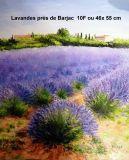 oeuvre de l'artiste ROSSA Irene : Lavandes près de Barjac