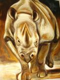 oeuvre de l'artiste GUIMBAUD Fabienne : la corne du rhinocéros