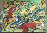 oeuvre de l'artiste Alfaroc : multitudes désordonnées