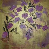 oeuvre de l'artiste Brigitte-noelle : pommier en fleurs