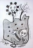 """oeuvre de l'artiste Stanislas : """"le mur de l'ignorance"""""""