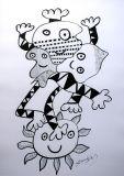 """oeuvre de l'artiste Stanislas : """"Libérer les enfants prisonniers"""""""