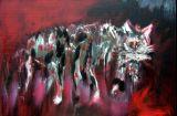 oeuvre de l'artiste LARUE Anne : Mélancolie du chat