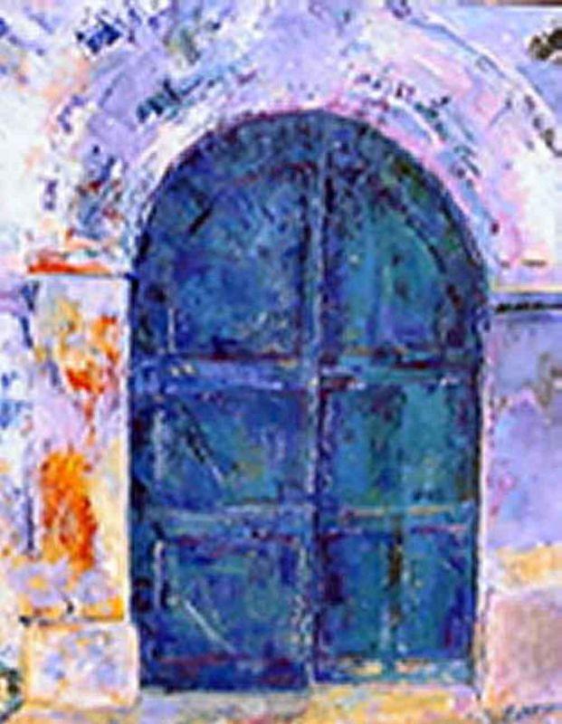 Artiste clement nicole peinture manosque ses oeuvres for Porte grecque