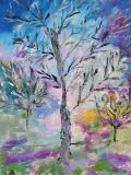oeuvre de l'artiste Maryse Dupuy : Paysage d'automne