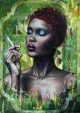 oeuvre de l'artiste BASSEZ Damien : Fumée d'émeraude.
