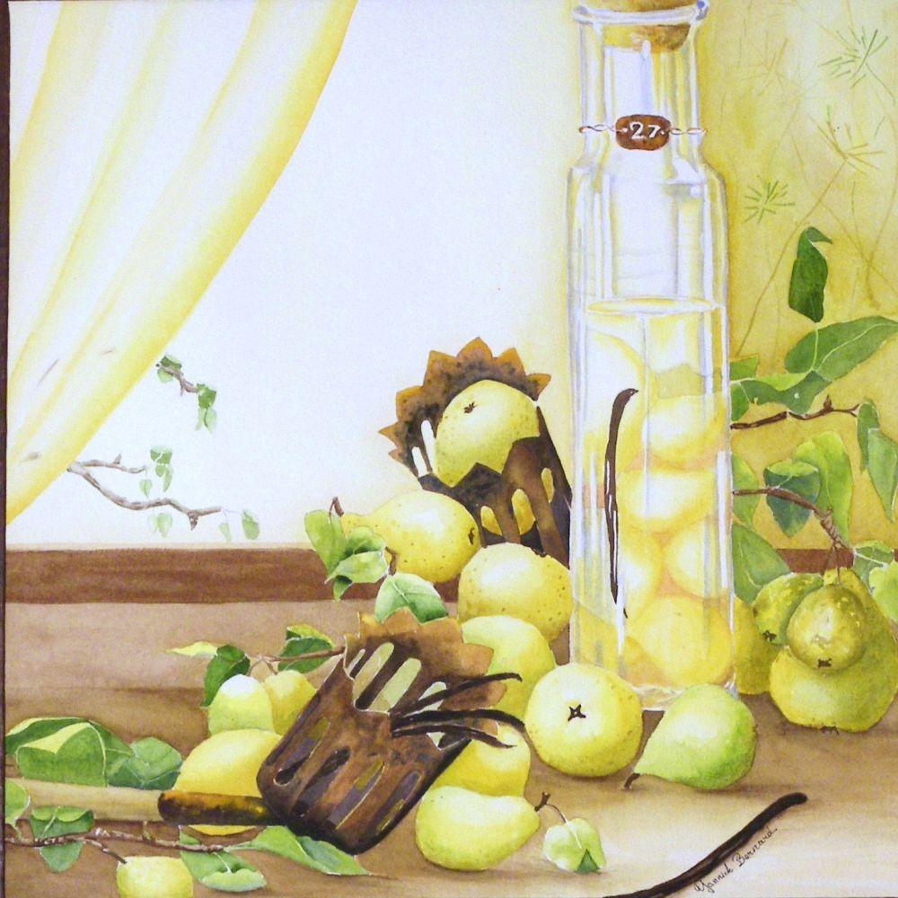 cueuille fruit et alcool de poire